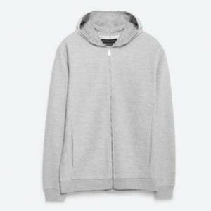 Zara Gray Zip Up Sweatshirt